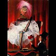 Peynet Les Amoureux at the Cabaret French Cancan Unused Vintage 1960s Postcard