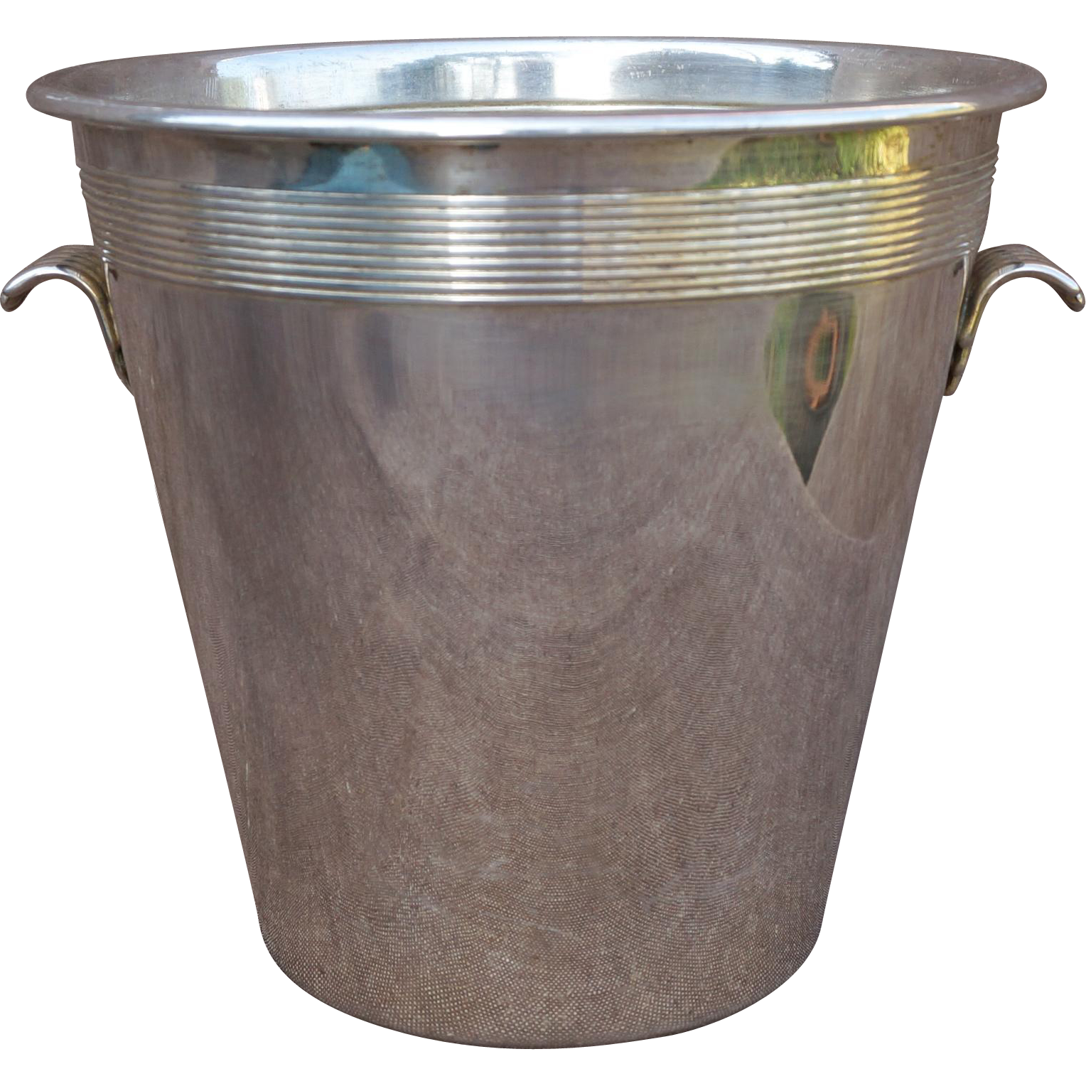 French Art Deco Lancel Chromium Plated Champagne Ice Bucket Cooler 1930