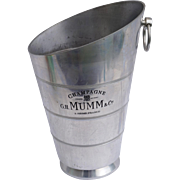 French Aluminum Champagne Ice Bucket Cooler Chiller G.H. Mumm 1950