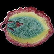 Majolica Acorn Leaf Platter