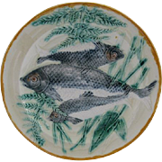 Wedgwood Majolica Fish Plate Rare Coloration