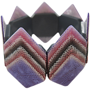 Geometric Stretch Bracelet By French Designer Lea Stein