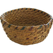 Vintage Native American Rye Basket Beautiful Condition