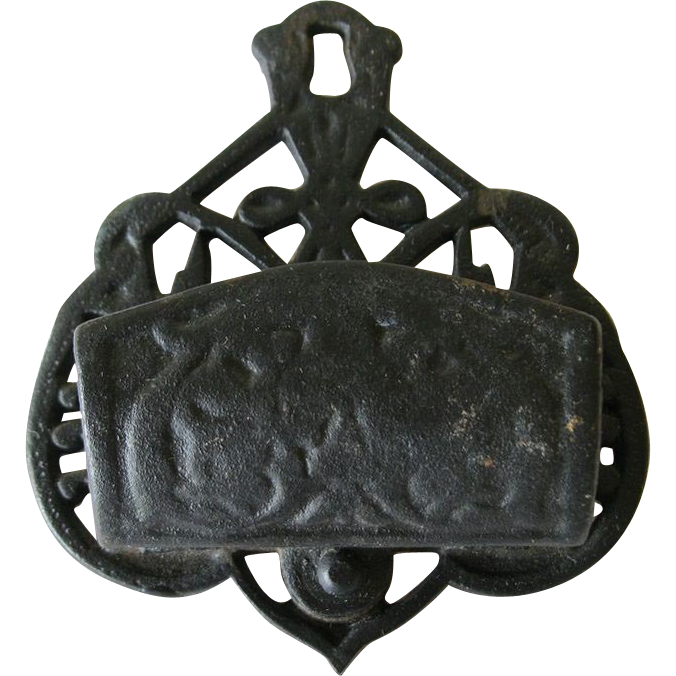 Antique Cast Iron Hanging Match Holder