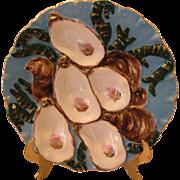 Striking Antique Porcelain Turkey Oyster Plate By Haviland Limoges