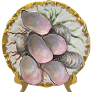 Stunning Haviland Limoges Turkey Oyster Plate