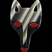 Fox Head Pin By French Designer Lea Stein