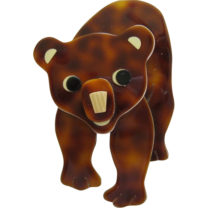 Tom The Brown Bear By French Designer Lea Stein
