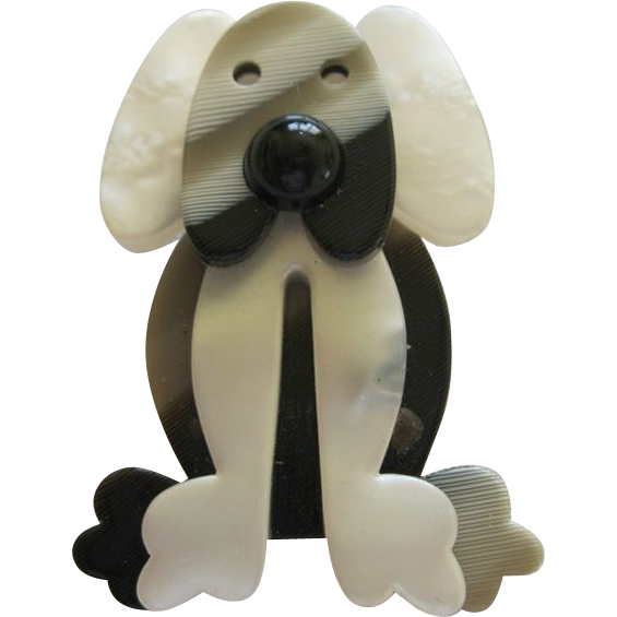 Plouk The Dog Pin By French Designer Lea Stein