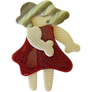 Little Dancing Girl Pin By French Designer Lea Stein