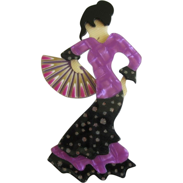Seville The Flamenco Dancer Pin By French Designer Lea Stein