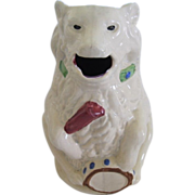 French Depose Majolica Figural Circus Bear Pitcher