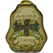Art Nouveau Tin Floral Decorated Powder Talic Container By L.T. Piver Paris France