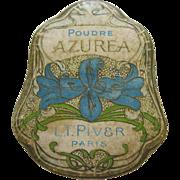 1920's L.T. Piver Powder Box Poudre Azurea Paris France - Red Tag Sale Item