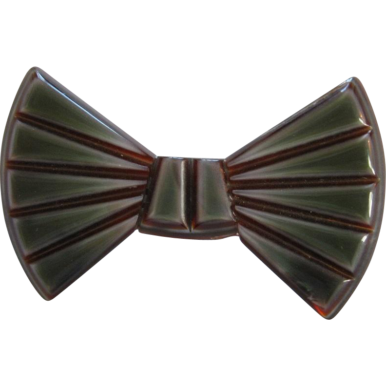 Bow Pin By French Designer Lea Stein