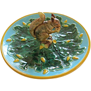 George Jones Majolica Round Squirrel Server