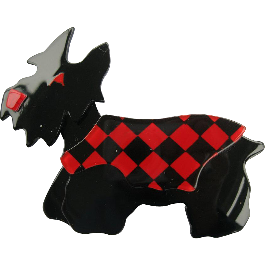 Kimdoo The Scottie Terrier Dog Pin By French Designer Lea Stein