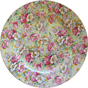 Chintz Floral Plate By Ridgway England