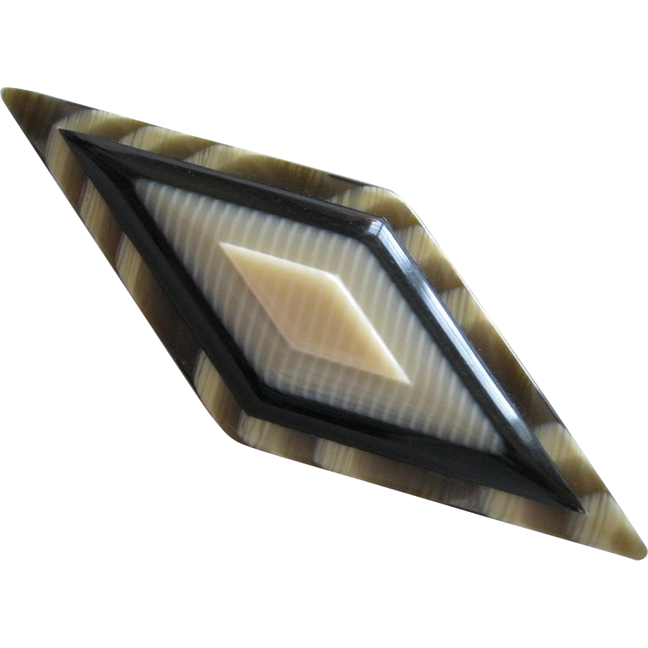 Early Layered Geometric Pin By French Designer Lea Stein