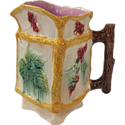 Antique Majolica Rustic Pitcher Great Condition