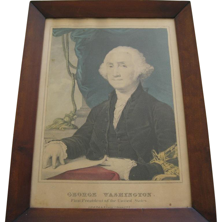 Original Framed Print By Currier & Ives Of George Washington