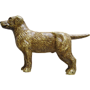 Antique Cast Iron Golden Or Labrador Dog Still Bank