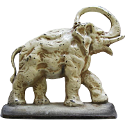 Antique Cast Iron Elephant Doorstop