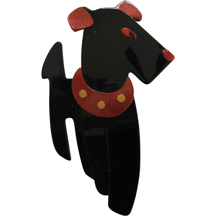 Ric The Terrier Dog Pin By French Designer Lea Stein