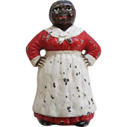 Antique Cast Iron Hubley Aunt Jemima Or Mammy Doorstop