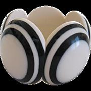 French Designed Resin Disk Stretch Bracelet