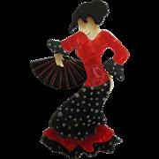 Seville The Flamenco Dancer Pin By French Designer Lea Stein