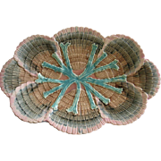 Etruscan Majolica Shell And Seaweed Ice Cream Platter