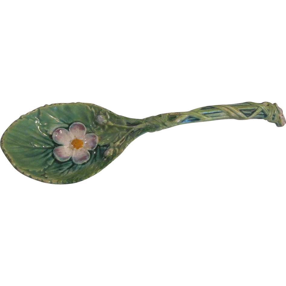 George Jones Majolica Strawberry Server Spoon
