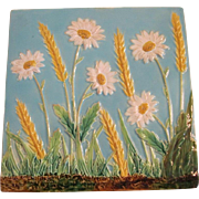 George Jones Majolica Daisy Tile