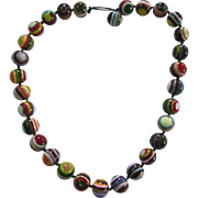 Carlos Sobral Brazil Resin Greek Eye Beaded Necklace