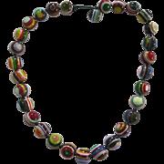 Carlos Sobral Brazil Resin Greek Eye Beaded Necklace