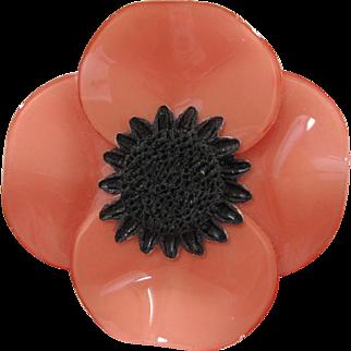 Cilea Of Paris Anemone Floral Pin