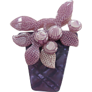Blueberry Pot Pin By French Designer Lea Stein