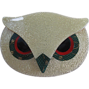 Athena The Owl Head Pin By French Designer Lea Stein