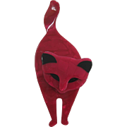 Attila The Cat Pin By French Designer Lea Stein