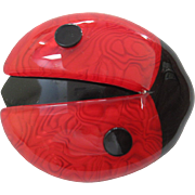 LadyBug Lady Bug Pin By French Designer Lea Stein