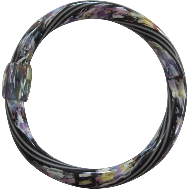 Bangle Bracelet By French Designer Lea Stein
