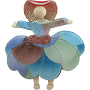 Ballerina Or Scarlet Pin By French Designer Lea Stein
