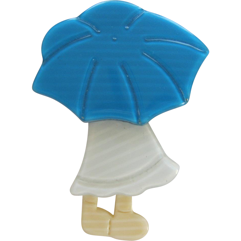 Poulbot Little Girl With Umbrella Pin By French Designer Lea Stein