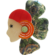 Corolle Deco Petal Head Pin By French Designer Lea Stein