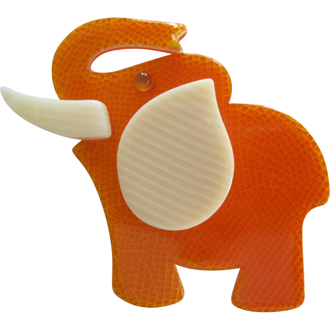 Elephant Pin By French Designer Lea Stein