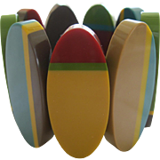 Resin Stretch Surfboard Style Bracelet By French Designer
