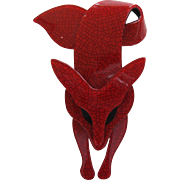 Famous Fox Pin By French Designer Lea Stein