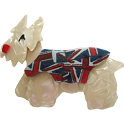 Kimdoo The Terrier Westie Westy Scottie Dog Pin By French Designer Lea Stein With Union Jack Sweater