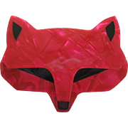Goupil The Wolf Head Pin By French Designer Lea Stein